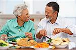 Couple Having Lunch Together At Home Stock Photo - Royalty-Free, Artist: MonkeyBusinessImages          , Code: 400-05374162