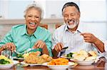 Couple Having Lunch Together At Home Stock Photo - Royalty-Free, Artist: MonkeyBusinessImages          , Code: 400-05374163