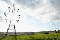 Electricity Pylons In A Paddock Stock Photo - Royalty-Freenull, Code: 400-05374289
