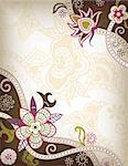 Illustration of abstract floral in asia style. Stock Photo - Royalty-Free, Artist: billyphoto2008                , Code: 400-05374516