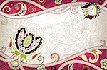 Illustration of abstract floral in asia style. Stock Photo - Royalty-Free, Artist: billyphoto2008                , Code: 400-05374519