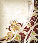 Illustration of abstract floral in asia style. Stock Photo - Royalty-Free, Artist: billyphoto2008                , Code: 400-05374529