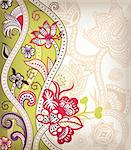 Illustration of abstract floral in asia style. Stock Photo - Royalty-Free, Artist: billyphoto2008                , Code: 400-05374531