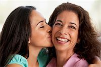 Mother And Daughter Together At Home Stock Photo - Royalty-Freenull, Code: 400-05374685