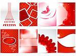 Vector red brochure design set Stock Photo - Royalty-Free, Artist: 578foot                       , Code: 400-05375530