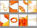 Vector orange brochure design set Stock Photo - Royalty-Free, Artist: 578foot                       , Code: 400-05375548