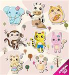 cartoon animal icons Stock Photo - Royalty-Free, Artist: notkoo2008                    , Code: 400-05376558