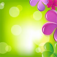 flores - Flowers And Bokeh, Vector Illustration Stock Photo - Royalty-Freenull, Code: 400-05377183