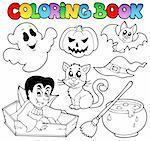 Coloring book Halloween cartoons 1 - vector illustration. Stock Photo - Royalty-Free, Artist: clairev                       , Code: 400-05377342