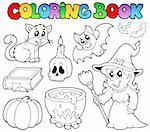 Coloring book Halloween collection - vector illustration. Stock Photo - Royalty-Free, Artist: clairev                       , Code: 400-05377343