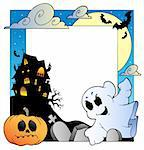 Frame with Halloween topic 1 - vector illustration. Stock Photo - Royalty-Free, Artist: clairev                       , Code: 400-05377364