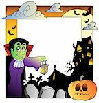 Frame with Halloween topic 2 - vector illustration. Stock Photo - Royalty-Free, Artist: clairev                       , Code: 400-05377365