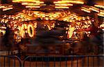 Carousel at an Annual County Fair with Motion Blur