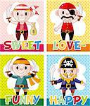 cartoon pirate card   Stock Photo - Royalty-Free, Artist: notkoo2008                    , Code: 400-05380074