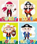 cartoon pirate card   Stock Photo - Royalty-Free, Artist: notkoo2008                    , Code: 400-05380075