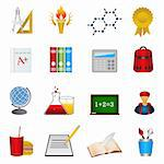 Back to school and education icons Stock Photo - Royalty-Free, Artist: soleilc                       , Code: 400-05381743