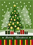vector background with Christmas tree and gifts, Adobe Illustrator 8 format Stock Photo - Royalty-Free, Artist: beta757                       , Code: 400-05381783