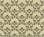 Damask seamless vector pattern.  For easy making seamless pattern just drag all group into swatches bar, and use it for filling any contours. Stock Photo - Royalty-Free, Artist: angelp                        , Code: 400-05381842