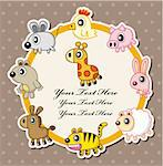 cartoon animal card Stock Photo - Royalty-Free, Artist: notkoo2008                    , Code: 400-05382038