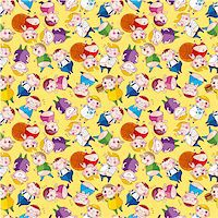 Cartoon Fat people seamless pattern   Stock Photo - Royalty-Freenull, Code: 400-05383167