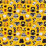 cartoon hockey sport seamless pattern   Stock Photo - Royalty-Free, Artist: notkoo2008                    , Code: 400-05383168