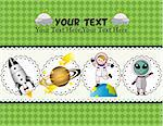 cartoon space card   Stock Photo - Royalty-Free, Artist: notkoo2008                    , Code: 400-05383169