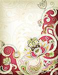 Illustration of abstract floral background in asia style. Stock Photo - Royalty-Free, Artist: billyphoto2008                , Code: 400-05384192