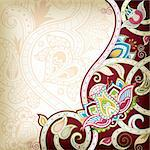 Illustration of abstract floral background in asia style. Stock Photo - Royalty-Free, Artist: billyphoto2008                , Code: 400-05384194