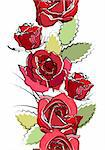 Seamless vertical border with red roses on white Stock Photo - Royalty-Free, Artist: nurrka                        , Code: 400-05384318