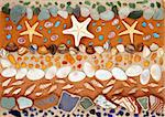 composition of shells, starfish and sand Stock Photo - Royalty-Free, Artist: alephcomo                     , Code: 400-05385186