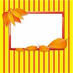 Autumn background with leaves, vector illustration Stock Photo - Royalty-Free, Artist: MarketOlya                    , Code: 400-05385211