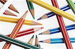 crayons on a white background Stock Photo - Royalty-Free, Artist: alephcomo                     , Code: 400-05385317