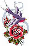 bird and rose banner