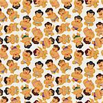 cartoon Sumo wrestler seamless pattern Stock Photo - Royalty-Free, Artist: notkoo2008                    , Code: 400-05386780