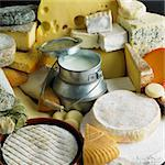 cheese still life with milk Stock Photo - Royalty-Free, Artist: phbcz                         , Code: 400-05387174