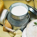 cheese still life with milk Stock Photo - Royalty-Free, Artist: phbcz                         , Code: 400-05387175
