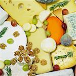 cheese still life with fruit Stock Photo - Royalty-Free, Artist: phbcz                         , Code: 400-05387177