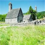 St. Kevins Monastery, Glendalough, County Wicklow, Ireland Stock Photo - Royalty-Free, Artist: phbcz                         , Code: 400-05387329