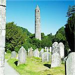 St. Kevins Monastery, Glendalough, County Wicklow, Ireland Stock Photo - Royalty-Free, Artist: phbcz                         , Code: 400-05387347