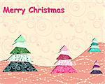 scrapbook Christmas vector card