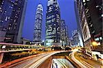 Hong Kong business district at night Stock Photo - Royalty-Free, Artist: leungchopan                   , Code: 400-05388117