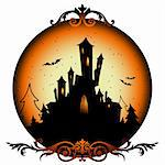 halloween background,  this illustration may be useful as designer work Stock Photo - Royalty-Free, Artist: Lady_Aqua                     , Code: 400-05388642