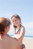 Mother and Daughter on Beach, Camaret-sur-Mer, Finistere, Bretagne, France Stock Photo - Premium Royalty-Freenull, Code: 600-05389213