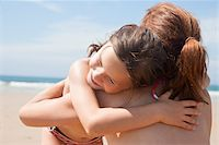 Mother and Daughter on Beach, Camaret-sur-Mer, Finistere, Bretagne, France Stock Photo - Premium Royalty-Freenull, Code: 600-05389214