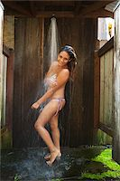 southeast asian ethnicity - Woman Wearing Bikini in Shower Stock Photo - Premium Rights-Managednull, Code: 700-05389264