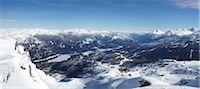 panoramic winter scene - View from Whistler Mountain, Whistler, British Columbia, Canada Stock Photo - Premium Rights-Managednull, Code: 700-05389333