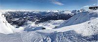 panoramic winter scene - View from Whistler Mountain, Whistler, British Columbia, Canada Stock Photo - Premium Rights-Managednull, Code: 700-05389337
