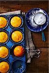 Cornbread Muffins and Icing Sugar Stock Photo - Premium Rights-Managed, Artist: John Cullen, Code: 700-05389345