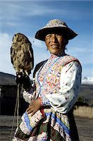 south american woman - Peru, Colca canyon, man and his falcon Stock Photo - Premium Royalty-Freenull, Code: 610-05392683