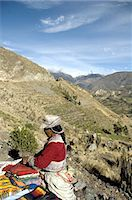 south american woman - Peru, Colca canyon, woman in traditional costume Stock Photo - Premium Royalty-Freenull, Code: 610-05392693